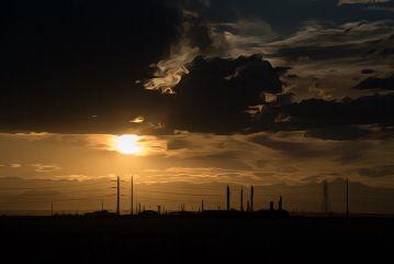 mindshift day254 sunset oilpainting orange