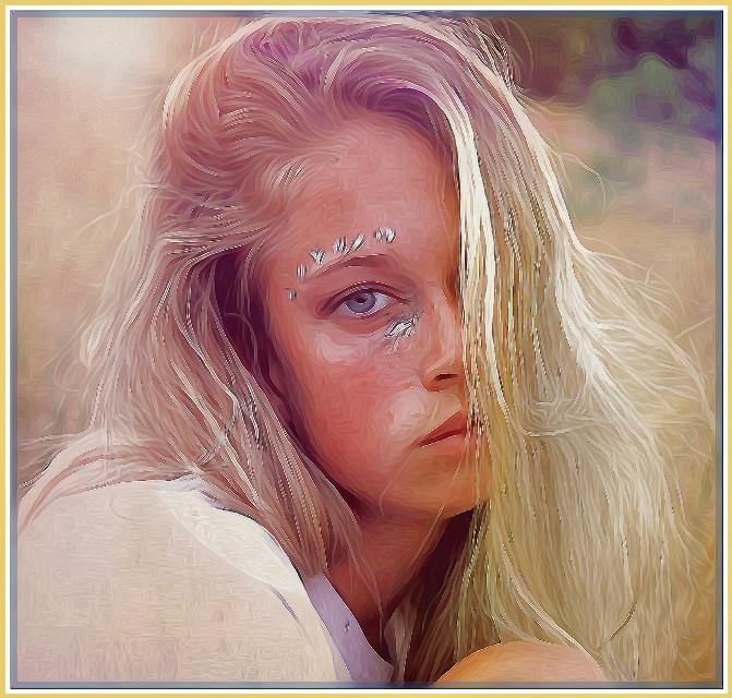 #FreeToEdit #watercoloreffect #oileffect #painted #femaleportrait #people #faces #lensflare #maskeffect#remix@99aitana