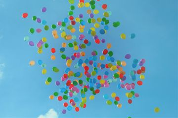 freetoedit nature sky colorful balloons