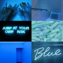 FreeToEdit blue tumblr aesthetic