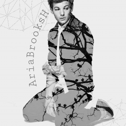louistomlinson cute blackandwhite