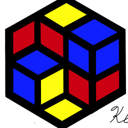wdpprimarycolors brilliant hexagons flippingcubes art