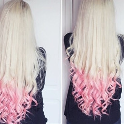 haircolor beautiful blond rosa pinkcolor