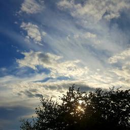 clouds nature croatia tree sunset freetoedit