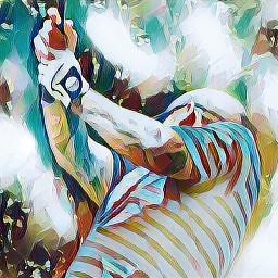 flare colorful golfing golf sport freetoedit