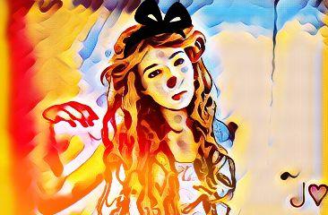 freetoedit girl colorsplash vibrant vibes