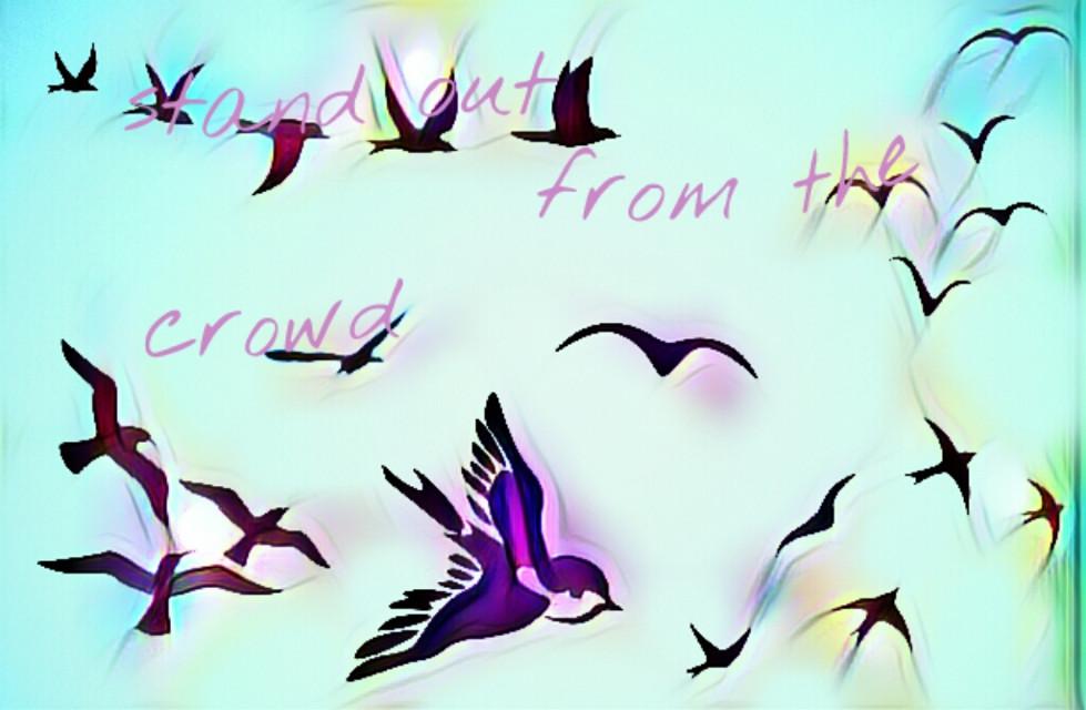 #FreeToEdit #standout #crowd #differant #clipart #bird #tatto #magic #colours #imagination