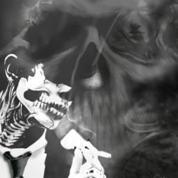 halloween halloween2016 halloweenmakeup skull skullhead