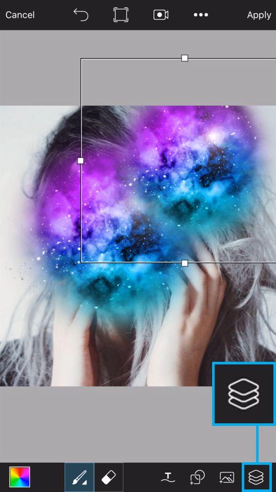 PicsArt Tutorial - Galaxy Skull 6