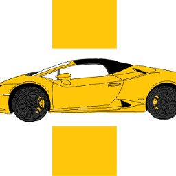 wdptwotone freetoedit lamborghini yellow drawing