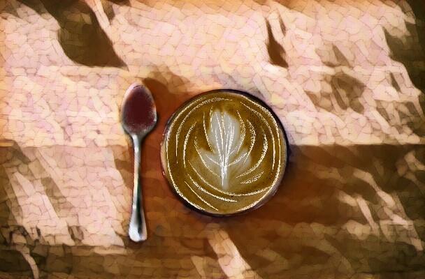 #FreeToEdit #tapandhold #coffie #swirls #white #spoom #tea #essperesso #silver #table
