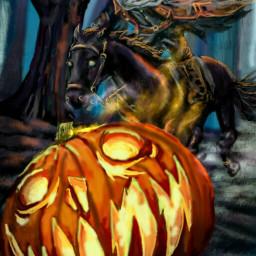 wdppumpkin drawing artwork halloween headlesshorseman