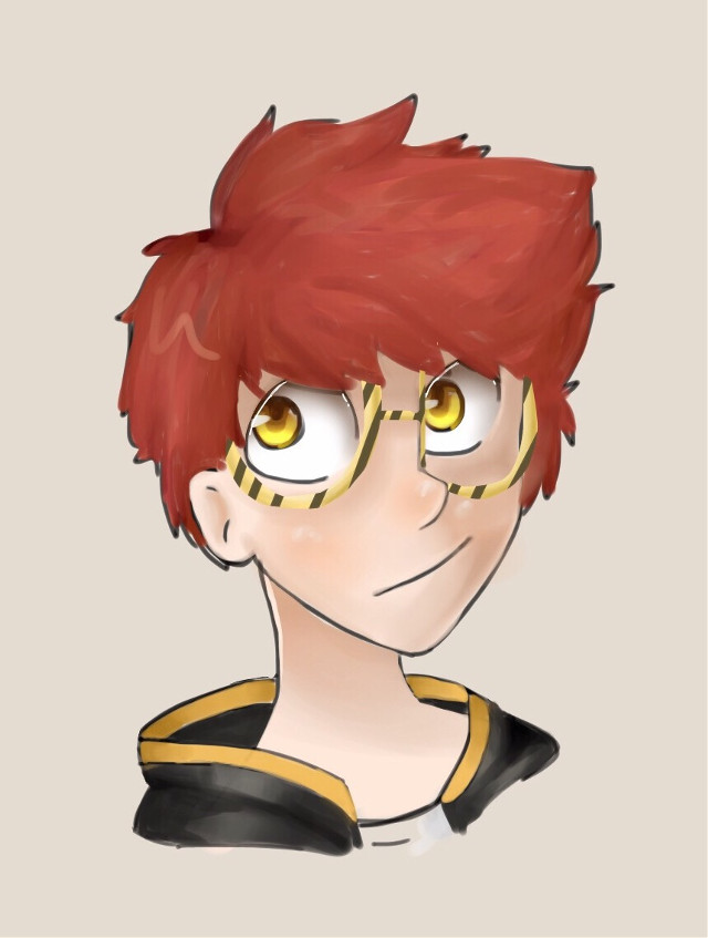 here is my second attempt at a not smol style,,,   it took a long time hh    #707 #mysticmessenger