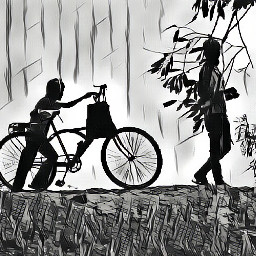 bicycle village fun villagers villagelife