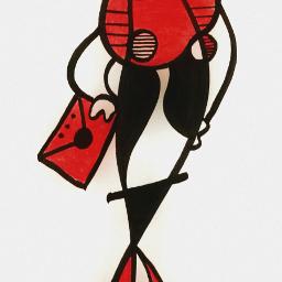 contemporaryart artecontemporaneo red white neoexpressionism
