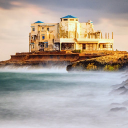 longexposure landscape seascape sunset oldbuilding