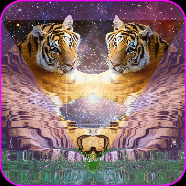 Majestic as FUUUUUG #trippy #psychedelic #hallucinations #weird #strange #surrealism #surreal #tigers #space #outer space  #halfbaked #digitalart   #FreeToEdit