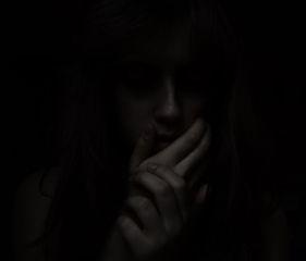 shadow portrait girl blackandwhite darkness