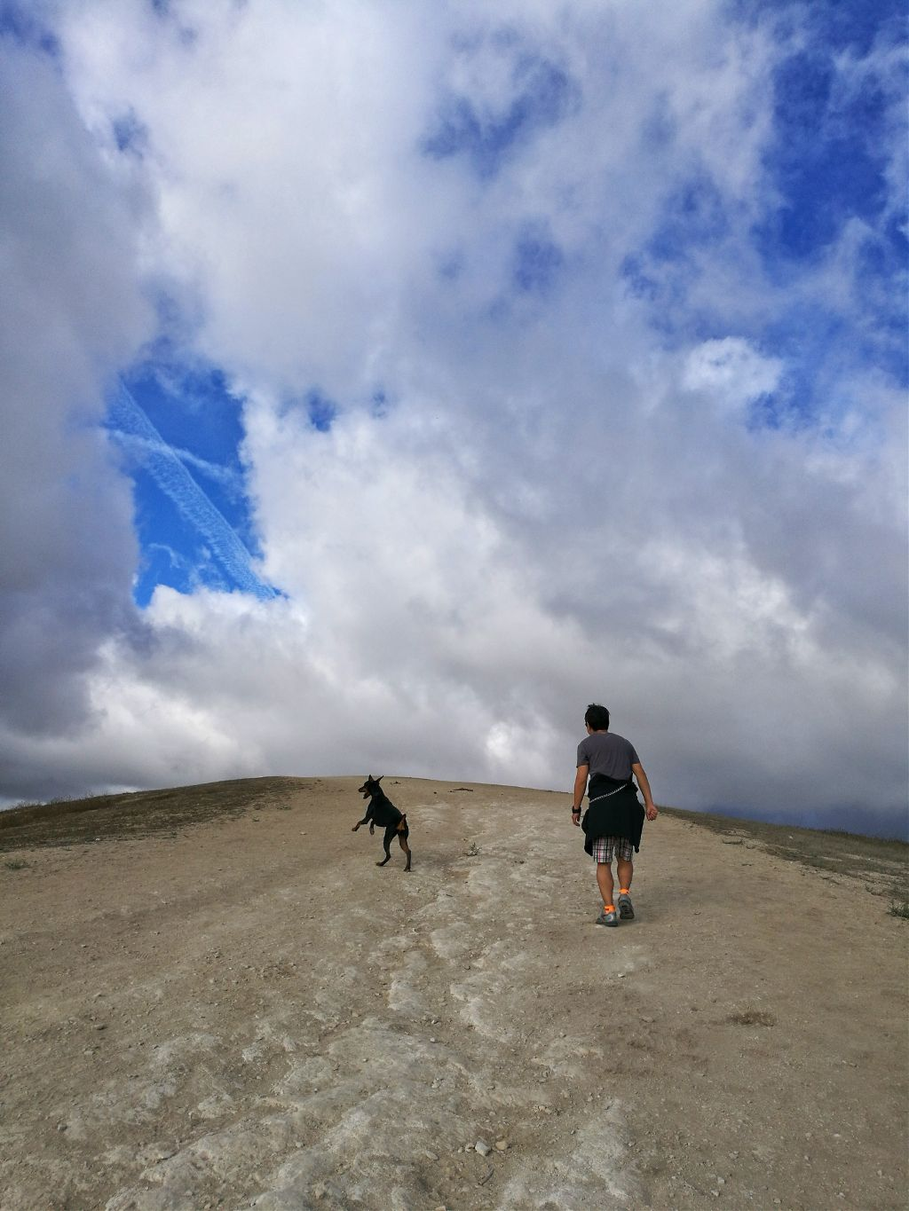 #dpcclouds #FreeToEdit  #sky #clouds #dog #people